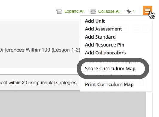 Share A Curriculum Map MasteryConnect Support Center
