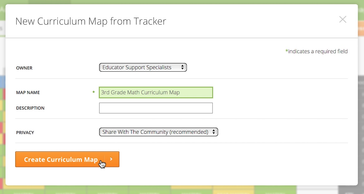 Create A Curriculum Map From A Tracker MasteryConnect