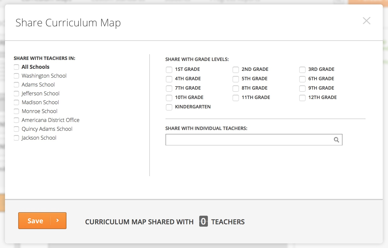 Share Curr Map with Teachers