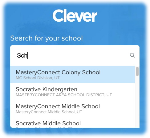 Clever Select a School