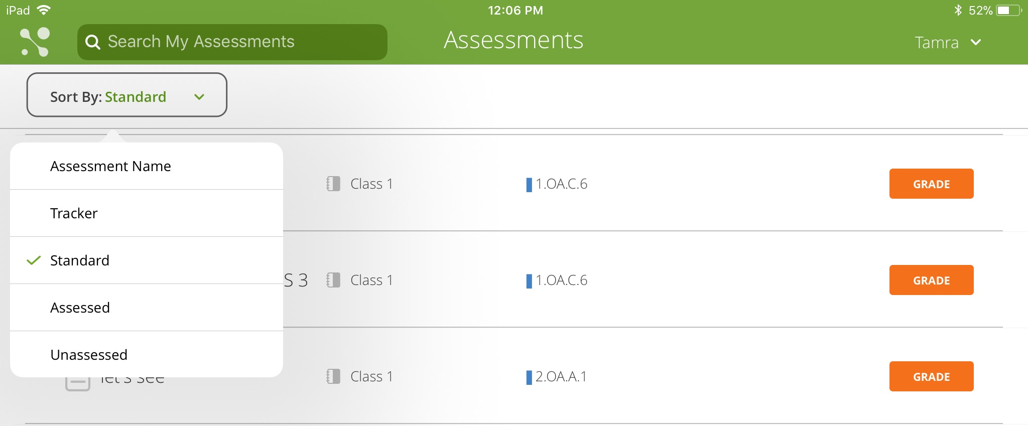 Assessments Sort By