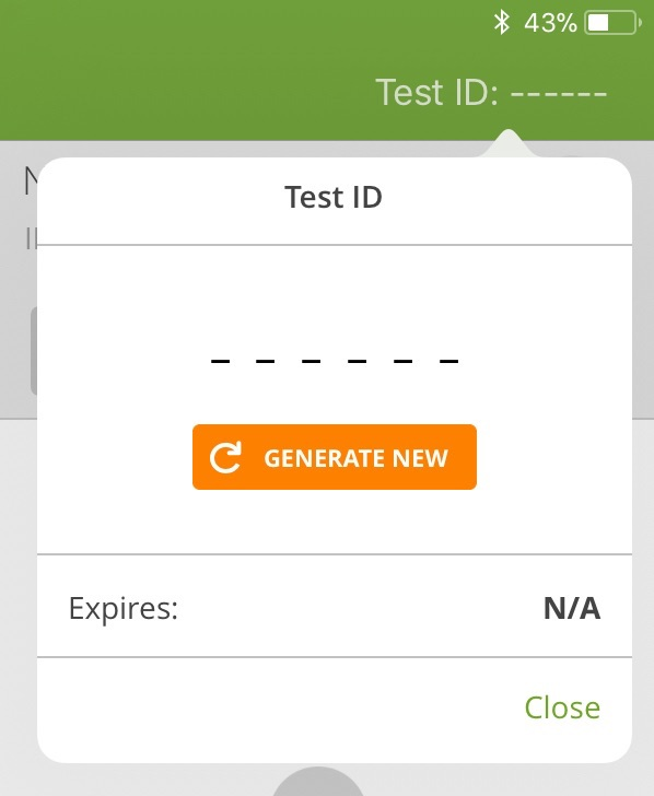 Generate New Test ID Dashes
