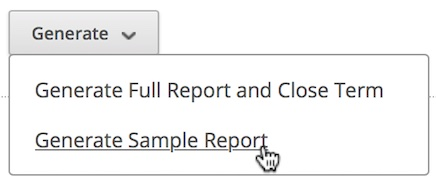 Generate Sample Report