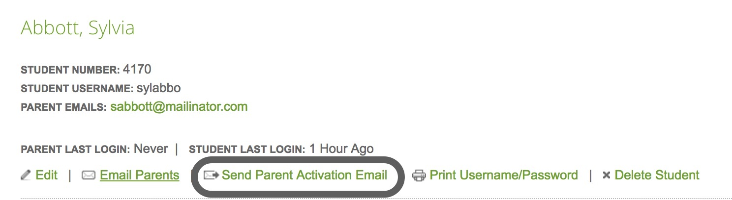 Send Parent Activation Email_Indvid Parent