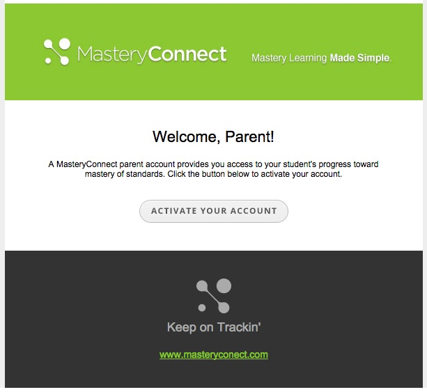Parent Login - Activation Email